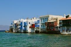 Little Venice in Mykonos, Greece Stock Photos