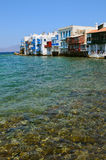 Little Venice in Mykonos, Greece Stock Photography