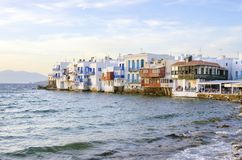 Little Venice, Mykonos, Greece Royalty Free Stock Photo