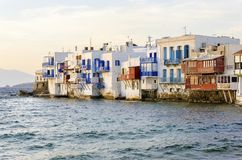 Little Venice, Mykonos, Greece Stock Images