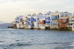 Little Venice, Mykonos, Greece Royalty Free Stock Photography