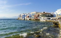 Little Venice, Mykonos, Greece Royalty Free Stock Image