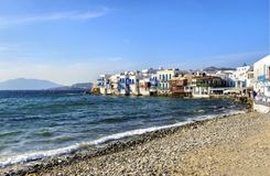 Little Venice, Mykonos, Greece Royalty Free Stock Images