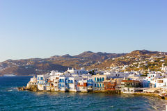 Little venice in Mykonos,Greece Royalty Free Stock Photography