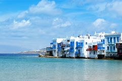 Little Venice at Mykonos. Greece royalty free stock photography