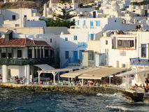Little Venice, Mykonos Greece Stock Image