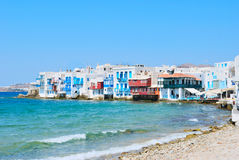 Little venice of mykonos Island Royalty Free Stock Photo