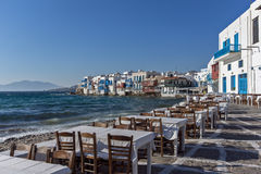 Little Venice at Mykonos Island, Cyclades Islands Royalty Free Stock Photography