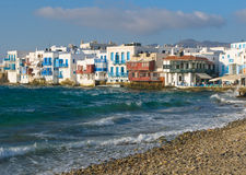 Little Venice, Mykonos Island, Greece Royalty Free Stock Photo