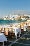 Little Venice, Mykonos Island, Greece Royalty Free Stock Photos