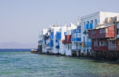 Little Venice on Mykonos Island, Greece. Stock Image