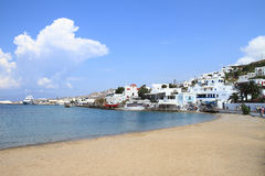 Little Venice of Mykonos island Stock Images