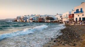 Little Venice, Mykonos Island, Greece Stock Photography