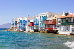 Little Venice in Mykonos Stock Images