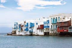 Little Venice Mykonos Island Royalty Free Stock Photos
