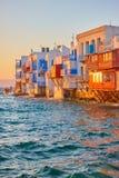 Little Venice in Mykonos Royalty Free Stock Photos