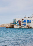 Little Venice on Mykonos in Mediterranean Royalty Free Stock Photo