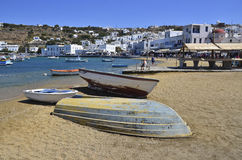 Little Venice Mykonos Stock Photo