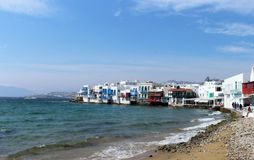 Little Venice, Mykonos Town, Mykonos, Greece Royalty Free Stock Photography