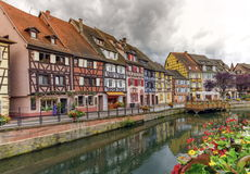 Little Venice, petite Venise, in Colmar, Alsace, France Royalty Free Stock Photography