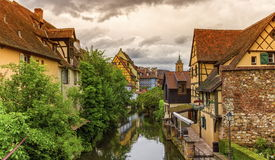 Little Venice, petite Venise, in Colmar, Alsace, France Royalty Free Stock Photo