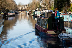 Little Venice is a very singular place in London along Regent`s Royalty Free Stock Images