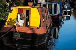 Little Venice is a very singular place in London along Regent`s Stock Photos