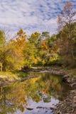 The Little Vermillion. Beginning of Autumn, Little Vermillion River, Illinois Royalty Free Stock Photography