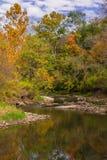 The Little Vermillion. Beginning of Autumn, Little Vermillion River, Illinois Royalty Free Stock Photo