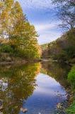The Little Vermillion. Beginning of Autumn, Little Vermillion River, Illinois Stock Image