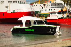 little vessel used for island excursions in the caribbean Royalty Free Stock Photography
