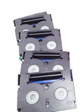 Little video cassettes. On isolate Royalty Free Stock Photo
