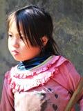 LITTLE VIETNAMESE GIRL AT THE SUN stock image