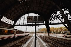 A little view of Barcelona train station royalty free stock photos