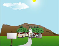 The little village Stock Photography
