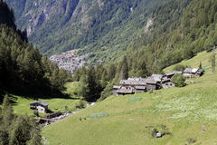 The little village. The alpine little village view Royalty Free Stock Images