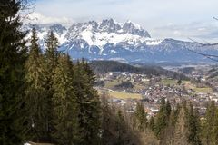 Little village in the Alps. Austria Royalty Free Stock Images