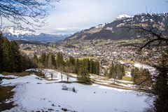Little village in the Alps. Austria Stock Photography