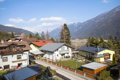 Little village in the Alps. Austria Stock Image