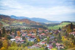 Little village in the Alps mountains in autumn Royalty Free Stock Photos
