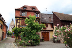 Little village in Alsace, France Royalty Free Stock Image