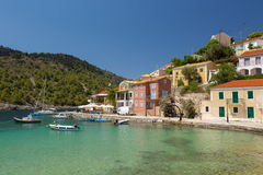 Little village of Assos at Kefalonia island in Greece Royalty Free Stock Image
