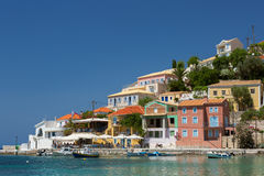 Little village of Assos at Kefalonia island in Greece Royalty Free Stock Photo