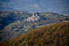 Little village of Castelfranco near Rieti, central Italy Royalty Free Stock Photo