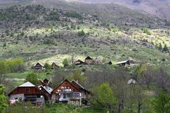 Little Village Dormillouse In The French Hautes Alpes Stock Photography