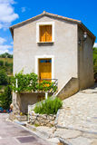 Little village of Eus, one of the most beautiful villages of France Stock Image