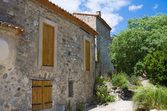 Little village of Eus, one of the most beautiful villages of France Stock Images
