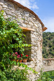 Little village of Eus, one of the most beautiful villages of France Stock Photo