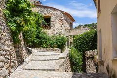 Little village of Eus, one of the most beautiful villages of France. Little village of Eus, one of most beautiful villages of France Stock Photography