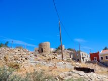 little village in greece outside the city stock photography